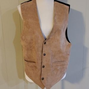 SCULLY Leather Vest medium tan